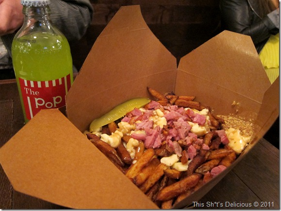 Let's maximize the Quebec-ness by adding Montreal smoked meat to poutine!