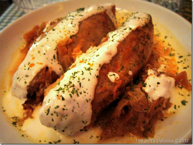 Bask in the glory of the Cabbage Roll!